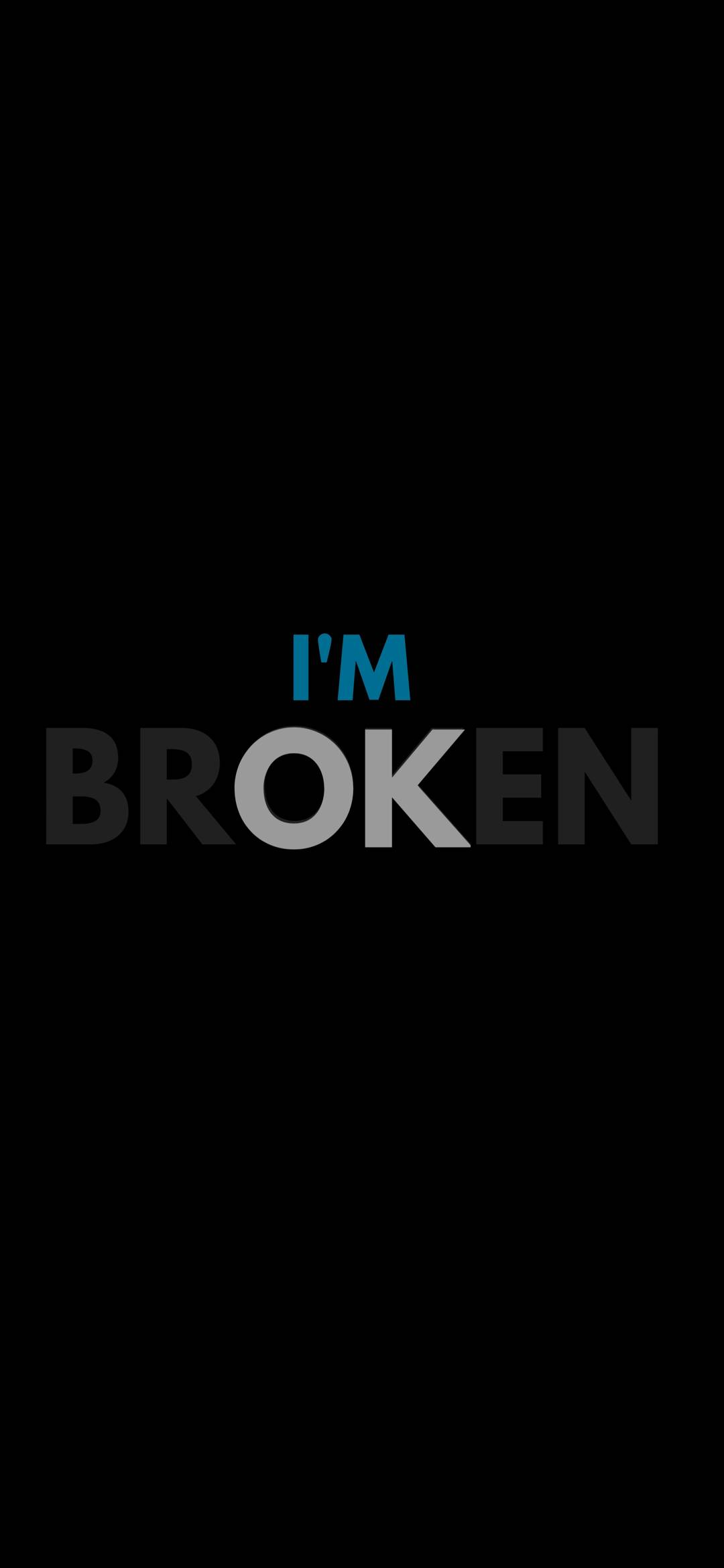 Broken Heart Wallpaper 1080x2340